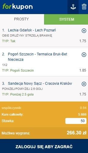 Kupon Ekstraklasa