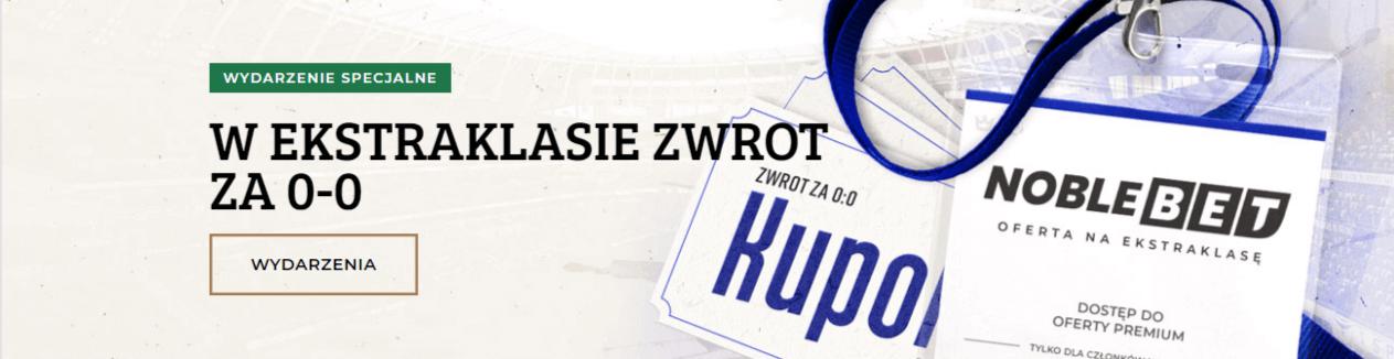 NobleBet z bonusami na zwrot za mecze Ekstrklasy