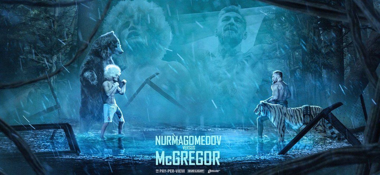 Khabib Nurmagomedov kontra Conor McGregor - plakat
