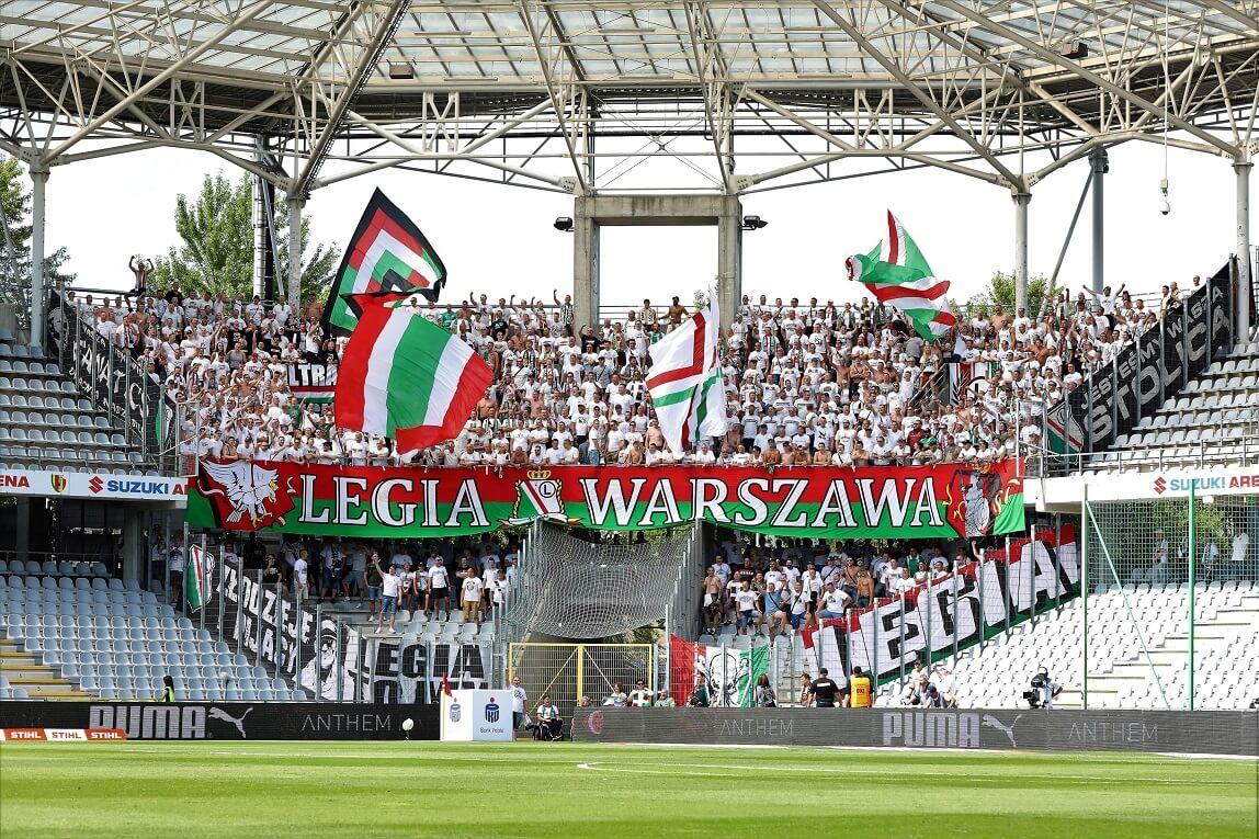 kibice Legii Warszawa w Kielcach