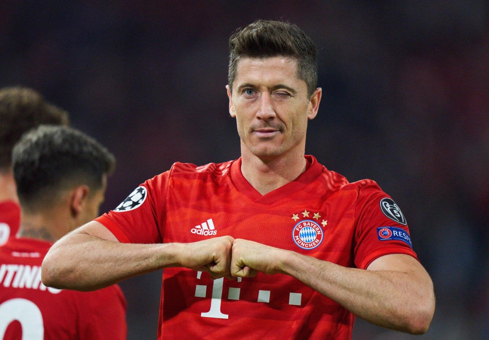Robert Lewandowski Bayern Monachium vs Crvena Zvezda