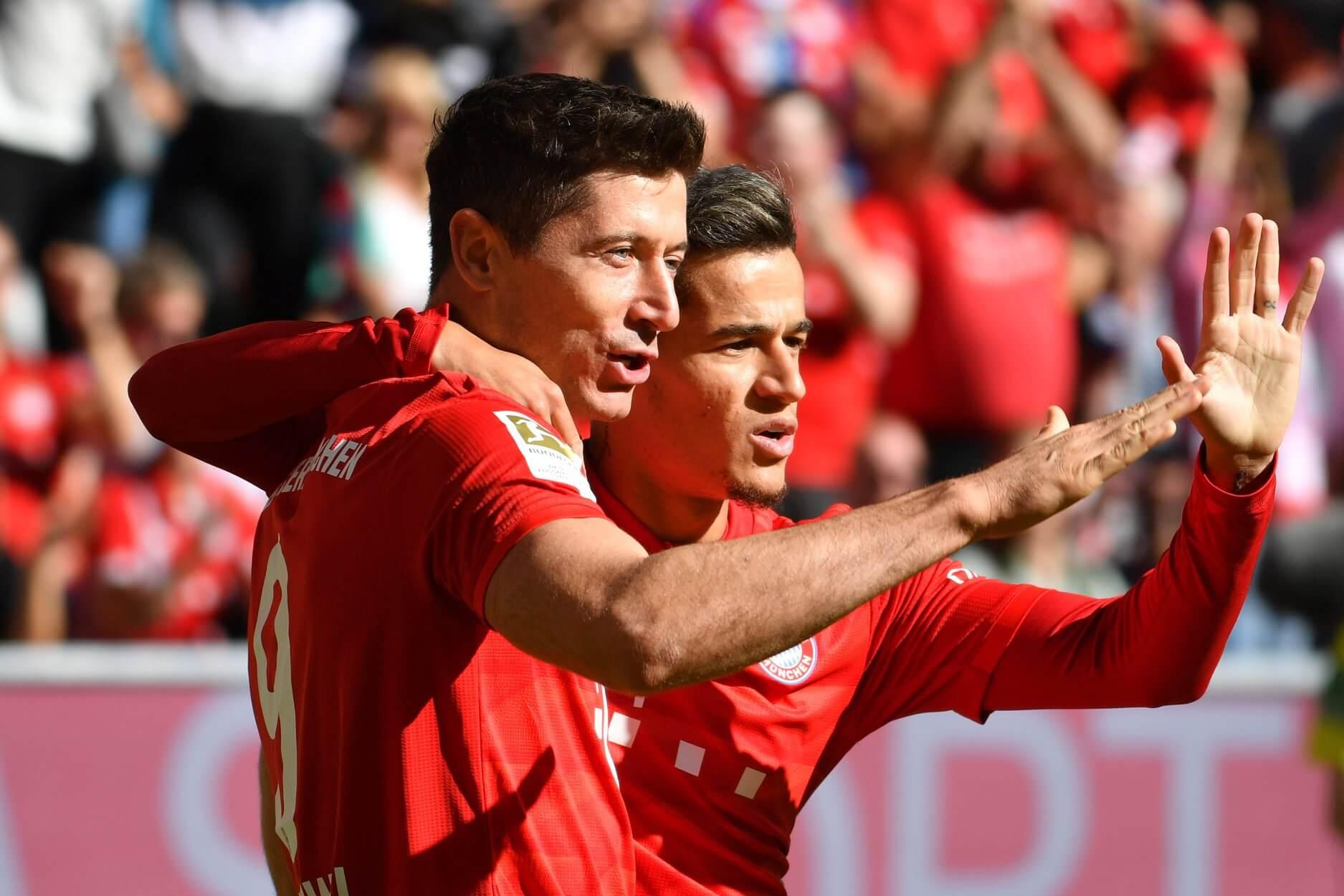 Robert Lewandowski i Coutinho vs Köln