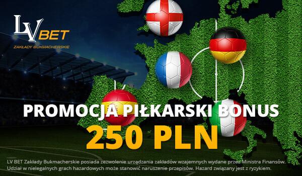 LVBET bonus - 250 PLN