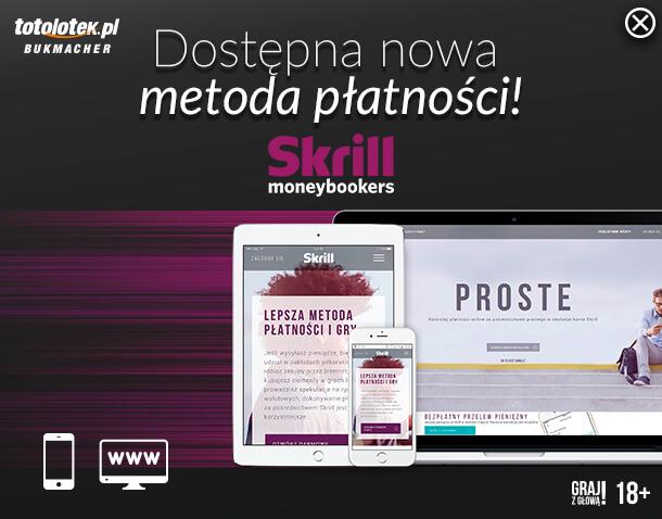 Nowa metoda płatności w Totolotku - Skrill