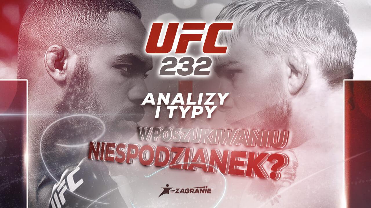 Okładka do typów na UFC 232