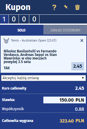 Ewinner - kupon na tenis