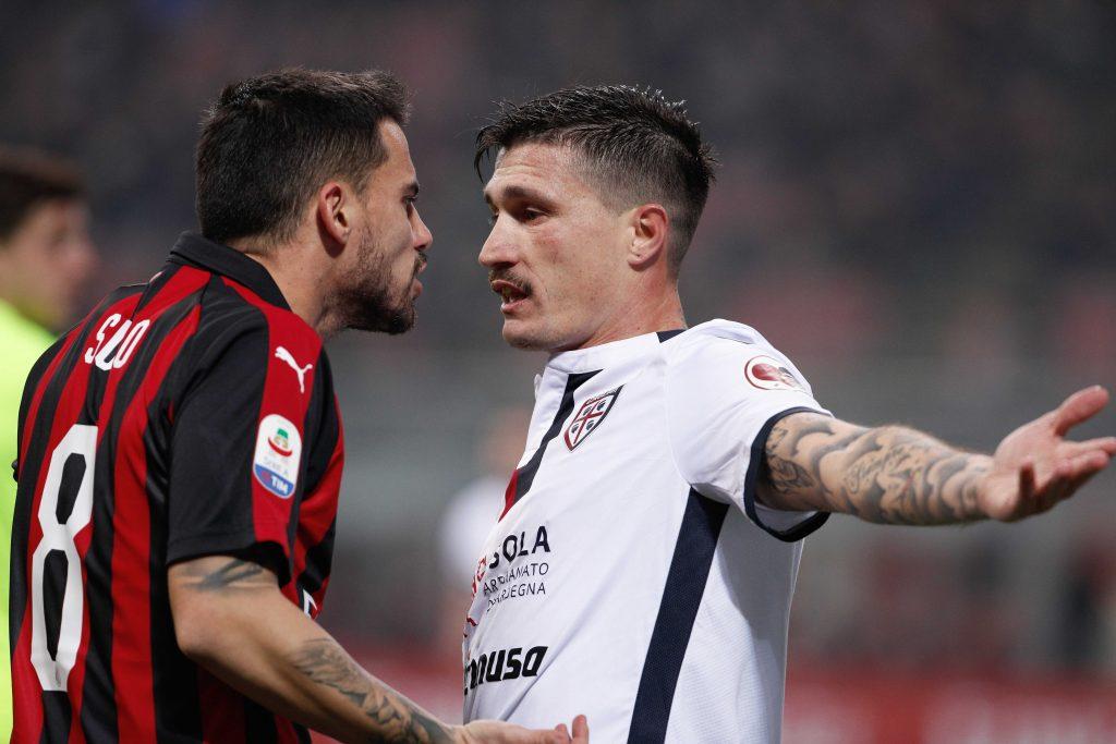 Suso (Milan) oraz Pisacane Fabio (Cagliari)